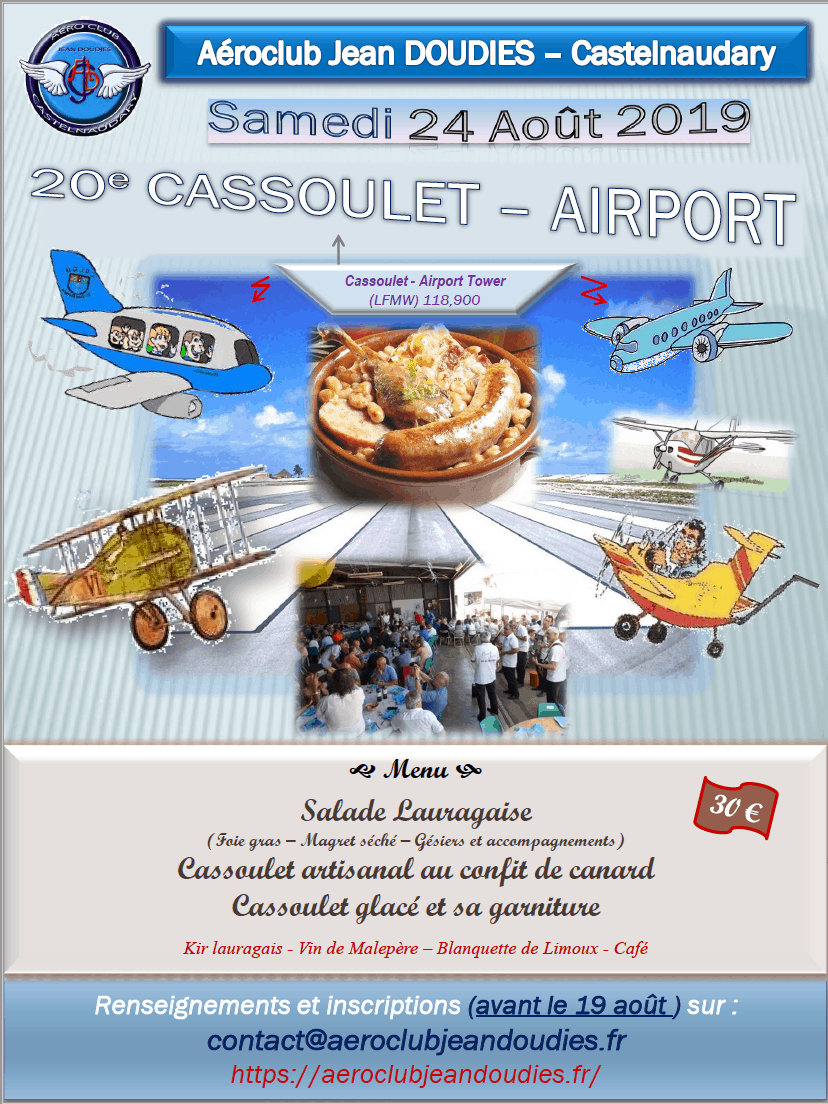 Cassoulet airport 2019
